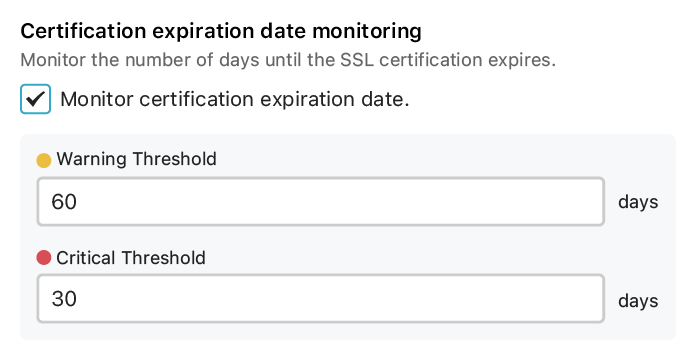 Certification expiration date monitoring